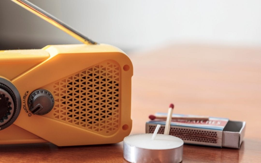 prepare for a power outage with a battery-powered radio